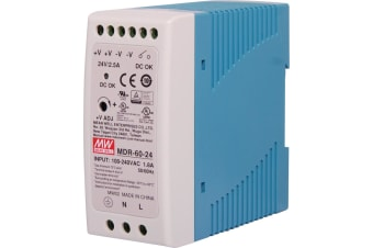 60W 24VDC 2.5A DIN Rail Switchmode Power Supply