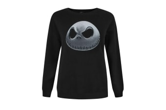 Nightmare Before Christmas Womens/Ladies Jack Skellington Sweater (Black)