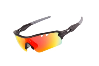 Outdoor Sports Polarizing Sunglasses Can Be Replaced By 5-Pieces Suit - 2 Grey 5Pcs