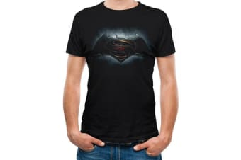 Batman V Superman Unisex Adults Logo Design T-Shirt (Black) (S)
