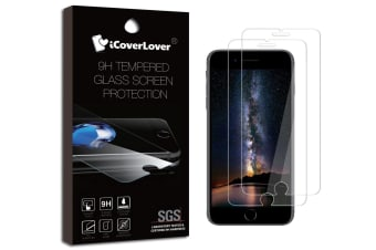 Transparent [2-Pack] For iPhone 8 7 6s  6 9H Tempered Glass Screen Protector