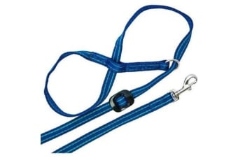 Gencon All-In-One Clip-To-Collar Head Collar (Blue) (One Size)