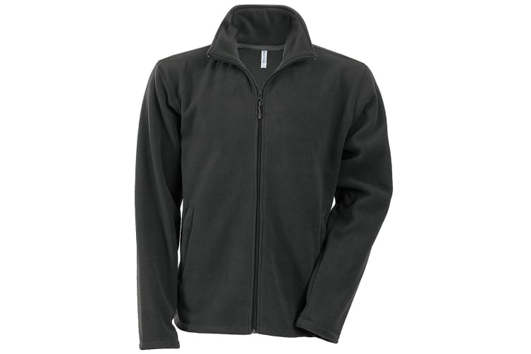 Kariban Mens Falco Full Zip Anti Pill Fleece Jacket (Dark Grey) (XL)