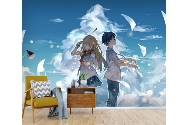 3D Your Lie In April 070 Anime Wall Murals Woven paper (need glue), XXXXL 520cm x 290cm (WxH)(205''x114'')