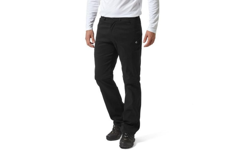 Craghoppers Mens Kiwi Pro II Convertible Trousers (Black) (40S)