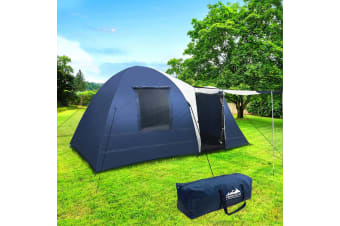 Camping Tent 8 Person Hiking Beach Tents Canvas Swag Family