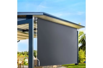 Retractable Straight Drop Roll Down Awning Patio Screen 2.1X2.5M