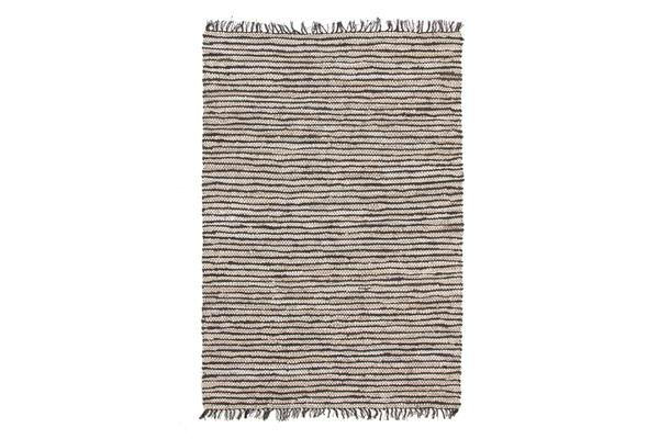Bondi Leather and Jute Rug Nude Pink White 270x180cm