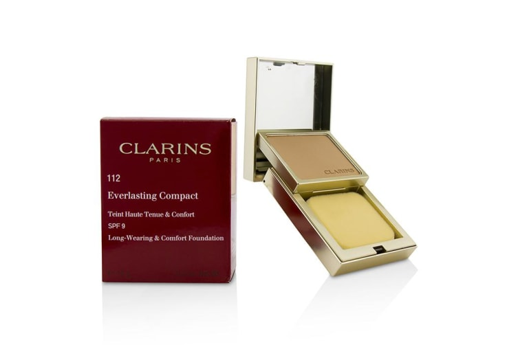 Clarins Everlasting Compact Foundation SPF 9 - # 112 Amber 10g