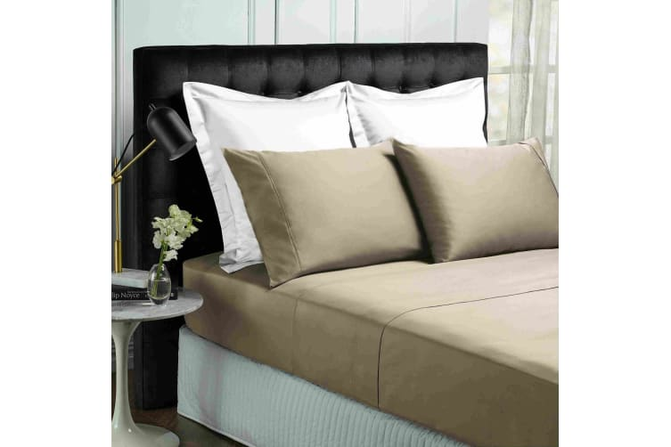 Park Avenue 500TC Soft Natural Bamboo Cotton Sheet Set Breathable Bedding - King - Pewter