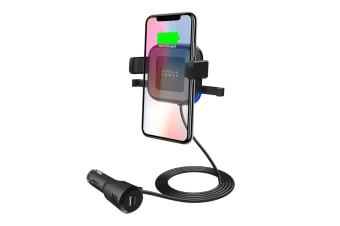 free shipping 4baf2 67abd mBeat Gorilla Power 10W Wireless Car Charger with 2.4A USB Charging, Air  Vent Clip & Windshield Stand