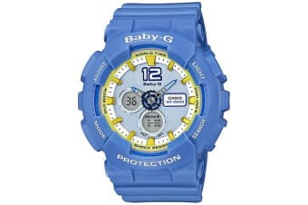 Casio Baby-G Analogue/Digital Blue Female Sports Motif Watch BA120-2B BA-120-2BDR