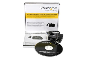 StarTech.com Travel Adapter for Laptops - VGA and GbE - USB 3.0