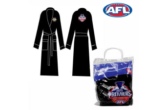 Dressing Gown Embroidered Logo Hawthorn Hawks by AFL