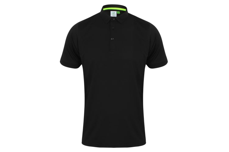 Tombo Mens Short Collar Short Sleeve Polo Shirt (Black/Black) (L)
