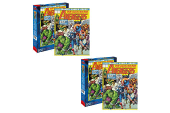 2PK 500pc Aquarius Marvel Avengers 48cm Jigsaw Puzzle Educational Kids/Children
