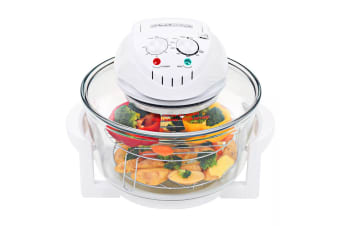 vidaXL Halogen Convection Oven with Extension Ring 1400 W 17 L