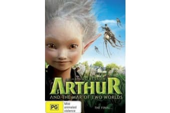 Arthur And The War Of The Two Worlds -Kids Region 4 Rare- Aus Stock DVD NEW