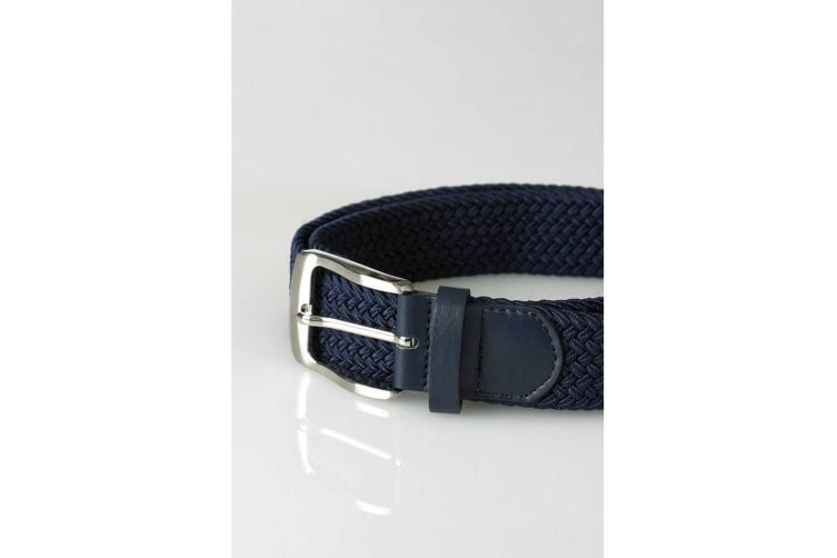 Duke Mens Dani King Size Stretch Braided Belt (Navy) (3XL)