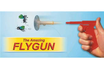 The amazing Fly Gun spring powered gun that kills flies and mosquitos
