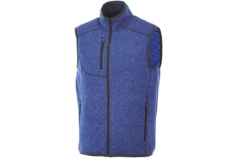 Elevate Mens Fontaine Knit Bodywarmer (Heather Blue) (XXL)