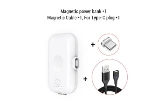 Magnetic Power Bank 1200mAh Mini Magnet Wireless Charger For Mobile Phone-For type C