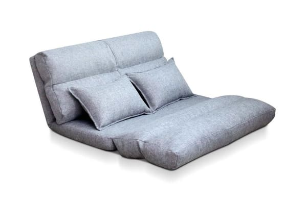 Foldable 2 Person Floor Lounge (Grey)