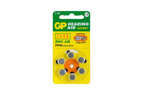 Gp Hearing Aid Battery, 6 Pack