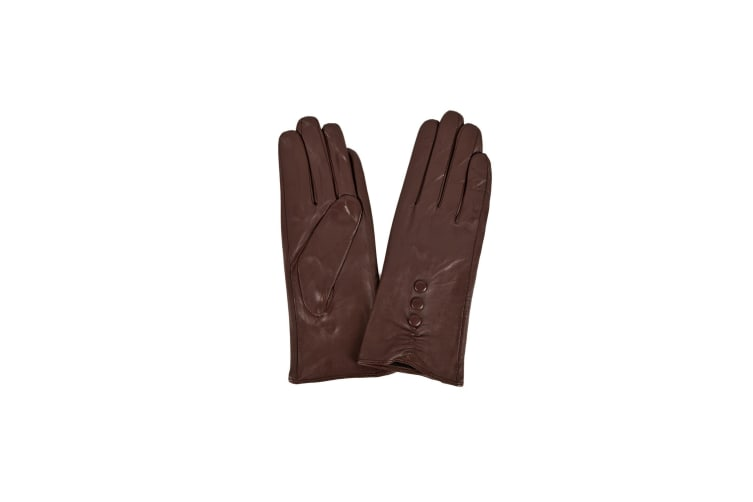 Eastern Counties Leather Womens/Ladies 3 Button Detail Gloves (Brown) (M)