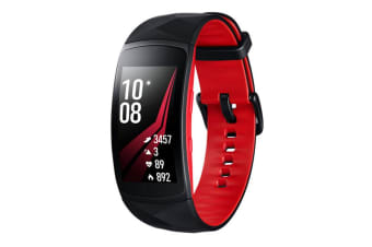 Samsung Gear Fit 2 Pro (SM-R365N, Large) - Red/Black