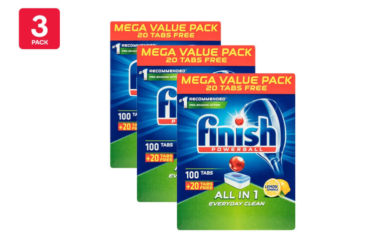 360 Finish All in One Powerball Dishwashing Tablets (3 x 120 Pack)