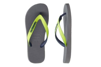 Havaianas Top Mix Thongs (Steel Grey/LED Yellow)