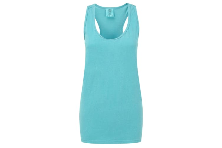 Comfort Colors Womens/Ladies Racer Back Sleeveless Vest (Lagoon Blue) (XS)