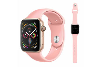 Apple Watch iWatch Series 1 2 3 4 5 Silicone Replacement Strap Band 38mm/40mm M/L size-Rose Pink