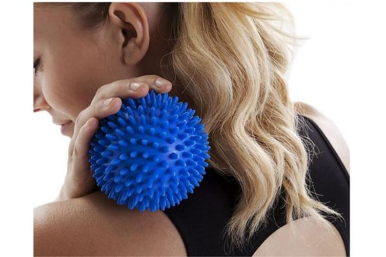 Pvc Hedgehog Fitness Ball Sports Recovery Massage Back Arm Legs Feet Red