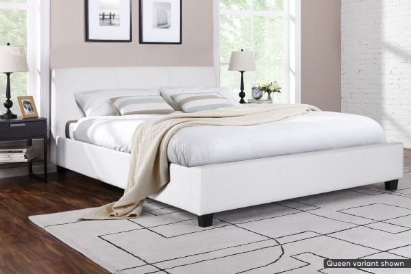 Shangri-La Bed Frame - Vernazza Collection (White, Double)