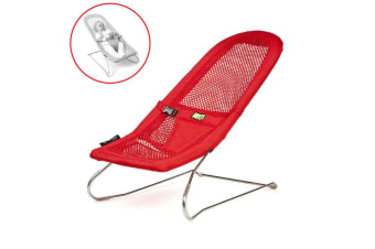 Serenity Red Infant Baby Bouncer Chair