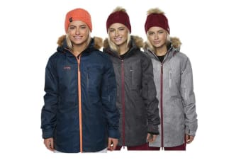 XTM Adult Female Snow Jackets Olena Ladies Jacket Black Denim - 12