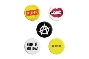 Grindstore Punk Is Not Dead Badge Pack (Multicoloured)