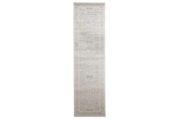 Silver Flower Transitional Rug 300x80cm