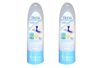 2xBona 850ml Hypoallergenic Wood/Timber Floor Cleaner Spray Mop Refill Cartridge