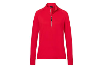 James and Nicholson Womens/Ladies Half Zip Sports Top (Red) (XS)