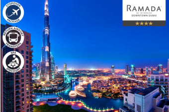 DUBAI: 1 Night Stopover Accommodation Package at Ramada Downtown for Two