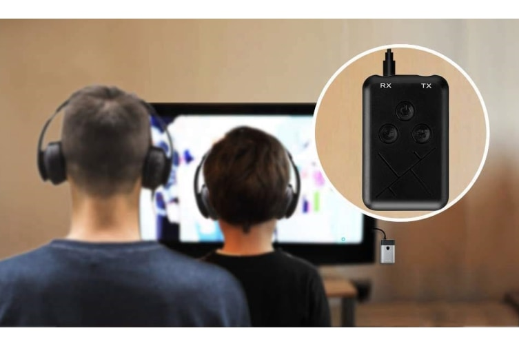 Bluetooth Transmitter / Receive 2-in-1 Wireless 3.5mm Adapter for TV / Home Sound System