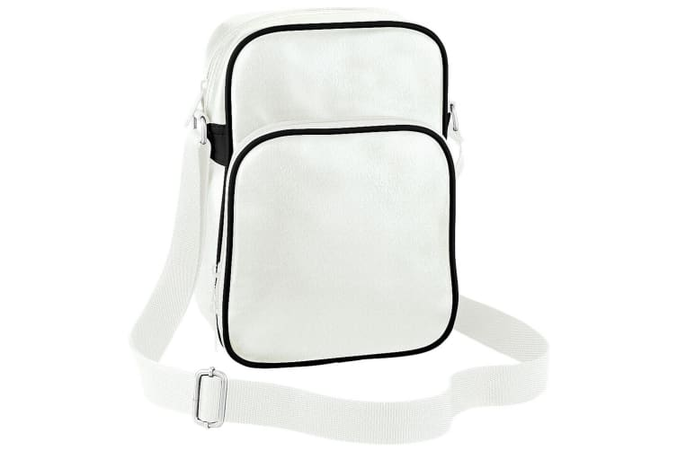 Bagbase Original Airline Reporter Bag (4 Litres) (Pack of 2) (Off White/ Black) (One Size)