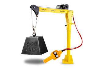 T-REX 800kg Electric Hoist Winch Crane 12V 360 Degree Engine Car Truck Lift