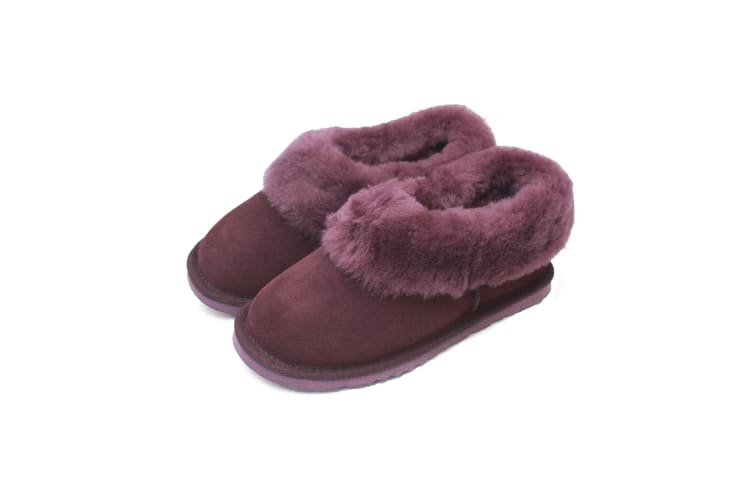 Eastern Counties Leather Womens/Ladies Sheepskin Lined Slipper Boots (Plum) (3 UK)