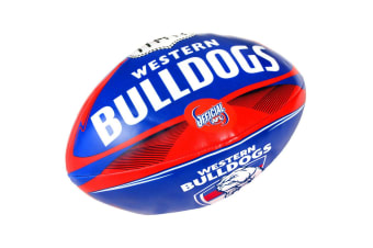 Summit AFL Western Bulldogs 20cm Large/Soft Rugby Ball