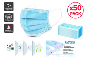 3 Ply Protective Disposable Face Mask (50 pack)