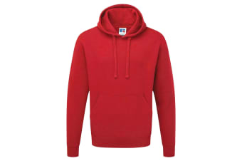 Russell Mens Authentic Hooded Sweatshirt / Hoodie (Classic Red) (XL)